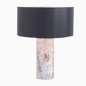 Lámpara de mesa brutalista de cerámica blanca de Willy Meysmans