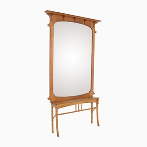 Art Nouveau Mirror with Console