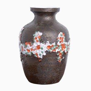 Vase Noir Brutaliste en Céramique de Perignem, 1970s