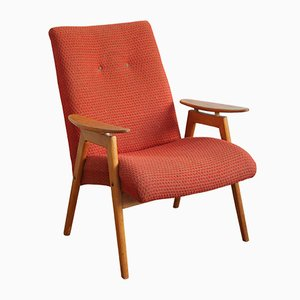 Type 6950 Red Armchair by Jaroslav Smidek for Jinota, 1965