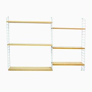Mueble de pared modular de Nisse Strinning para String, años 50