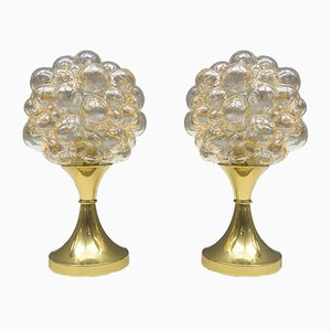 Vintage Bubble Glass Table Lamps by Helena Tynell for Limburg, Set of 2