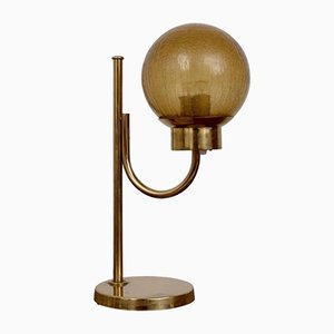 Lámpara de mesa modelo B-090 de latón de Bergboms, años 60