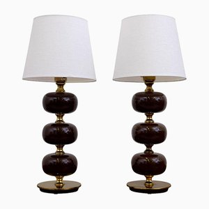 Lámparas de mesa suecas de Tranås Stilarmatur, años 50. Juego de 2