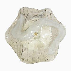Lámpara de techo grande 5413 de cristal de hielo de Kalmar, años 60