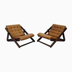 Grands Fauteuils Lounge par Gillis Lundgren, Suède, 1970s, Set de 2
