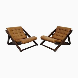 Large Swedish Lounge Chairs by Gillis Lundgren, 1970s, Set of 2