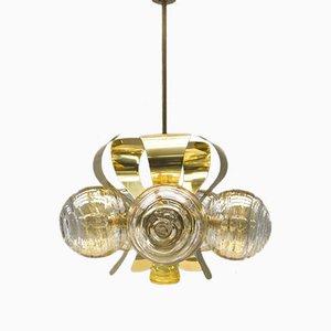 Lampada da soffitto Orbit in ottone, anni '60