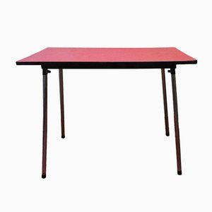 Belgian Red Formica Dining Table, 1960s