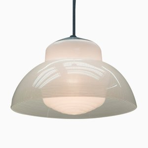 Bauhaus Double Shade Ceiling Lamp, 1940s