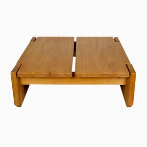 Vintage French Solid Elm Coffee Table from Regain Furniture, 1960s