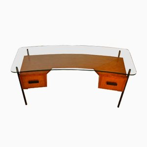 Mid-Century Desk by J. Hitier for La Meridienne, 1950s