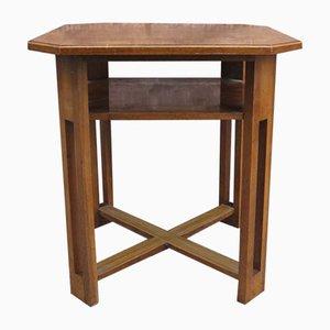 Tavolo quadrato Art Déco con mensola, anni '30