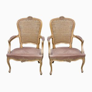 Antique German Carved Armchairs, Set of 2