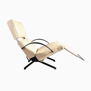 Italienisches Mid-Century P40 Relaxing System Ledersessel von Osvaldo Borsani für Tecno, 1950er