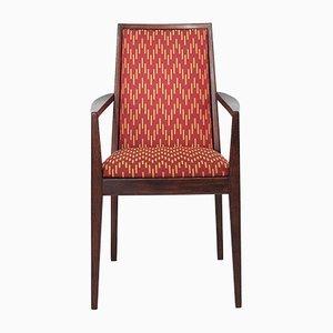 Butaca con tapizado rojo de Wiesner-Hager, 1958