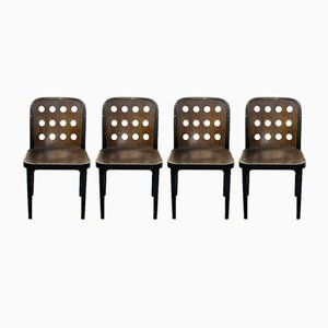 Vintage Chairs by Josef Hoffmann for Thonet Mundus, Set of 4