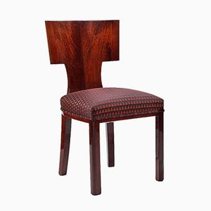 Vintage Art Deco Oak & Walnut Chair