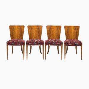 Vintage Esszimmerstühle von Jindřich Halabala für UP Zavody, 4er Set