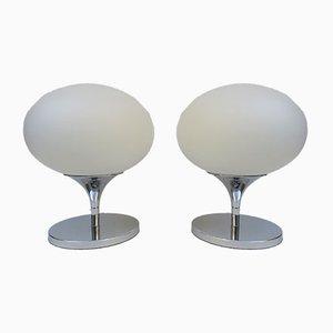 Lámparas de mesa de Kaiser-Leuchten, años 70. Juego de 2