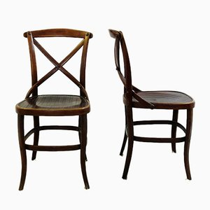 Chaises Antique par Jacob & Josef Kohn pour Thonet, Set de 2