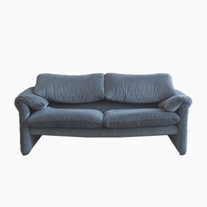 Italian Two-Seater Maralunga Sofa by Vico Magistretti for Cassina, 1980s