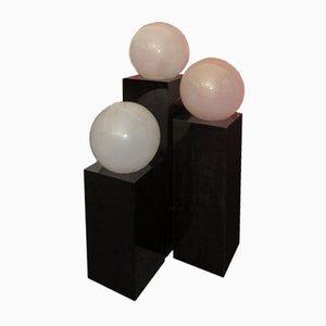 Lámparas de pie de cristal de Murano, años 70. Juego de 3