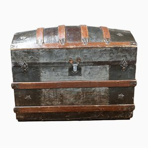 Antique American Curved Trunk, 1870