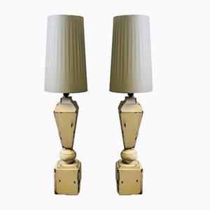 Graue Tischlampen, 2er Set