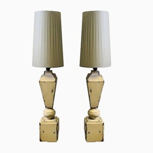 Lámparas de mesa en gris. Juego de 2