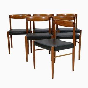 Vintage Esszimmerstühle von H. W. Klein für Bramin, 6er Set