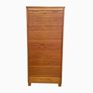 Swedish Oak Tambour Filing Cabinet