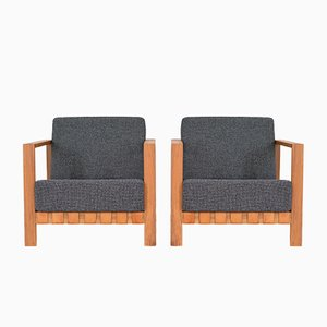 Mid-Century Lounge Chairs by Nauer & Vogel SWB, Set of 2