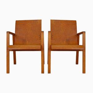 Chaises Vintage Modèle 403 Hallway par Alvar Aalto pour Huonekalu-ja Rakennustyöte, Set de 2