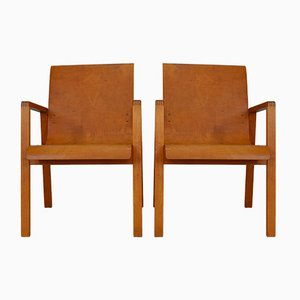 Vintage Model 403 Hallway Chairs by Alvar Aalto for Huonekalu-ja Rakennustyöte, Set of 2