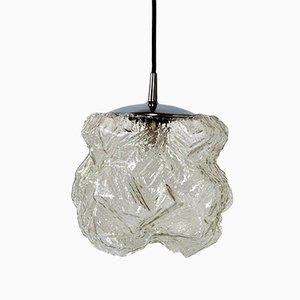 Lámpara de techo de cristal de hielo de Peill & Putzler, años 60
