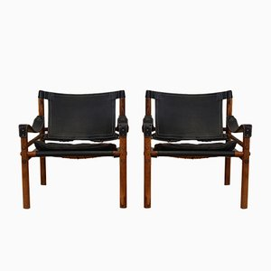 Vintage Sirocco Armlehnstühle von Arne Norell für Arne Norell AB, 2er Set