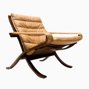 Chaise Pliable Vintage en Cuir par Ingmar Relling pour Westnofa, 1960s