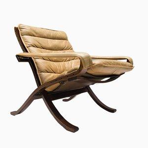 Chaise Pliable en Cuir par Ingmar Relling pour Westnofa, 1960s
