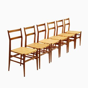 Leggera Chairs by Gio Ponti for Figli di Amedeo Cassina, 1950s, Set of 6