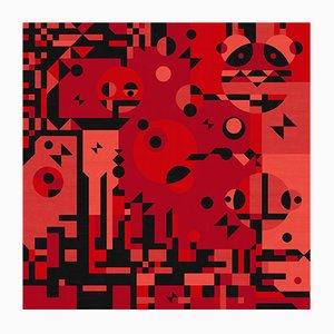 Tappeto Red Rays di Kostas Neofitidis per KOTA Collections