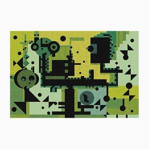 Tappeto Green Rays di Kostats Neofitidis per KOTA Collections