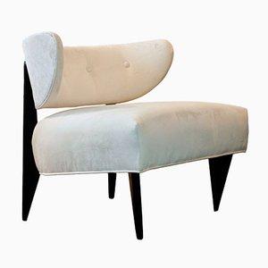 Fauteuil Lounge Mid-Century Couleur Crème, 1950s