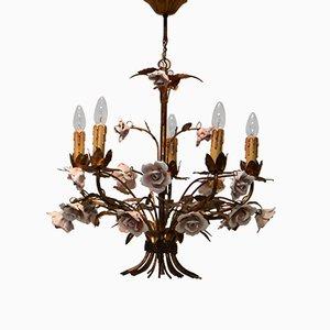 Lámpara de araña Hollywood Regency Mid-Century, años 50