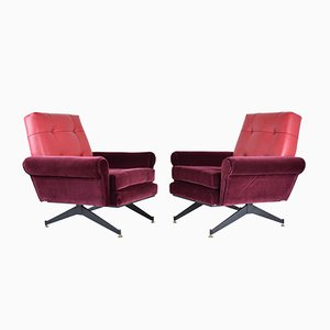 Italian Mid-Century Armchairs, 1950s, Set of 2