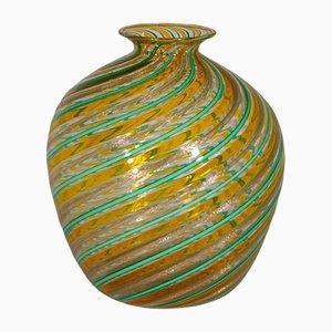 Jarrón vintage de cristal de Murano multicolor de Fratelli Toso, años 70