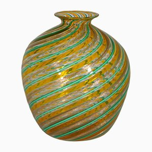 Vintage Multi-Colored Murano Glass Vase by Fratelli Toso, 1970s