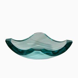 Mid-Century Glas Aschenbecher von Erwin Burger für Fontana Arte, 1960er