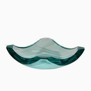 Mid-Century Glass Ashtray by Erwin Burger for Fontana Arte, 1960s