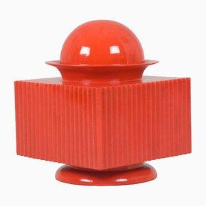 Scatola vintage in ceramica rossa di Sergio Asti per Cedit, anni '70